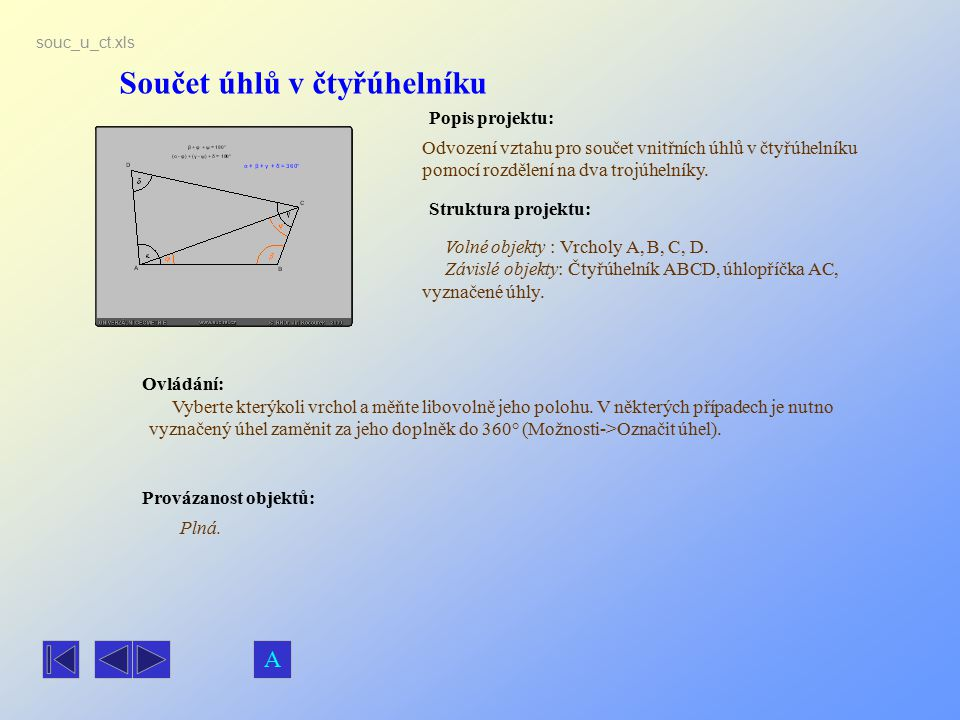 Součet úhlů v čtyřúhelníku