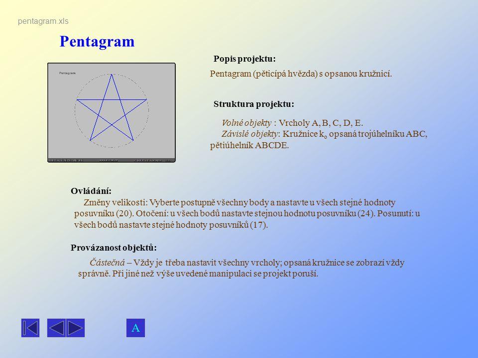 Pentagram A Popis projektu: