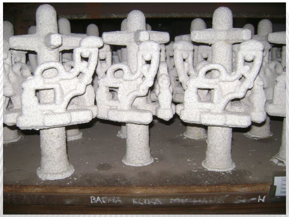Vtokový kůl, který je rotační, je zhotoven taky z tech