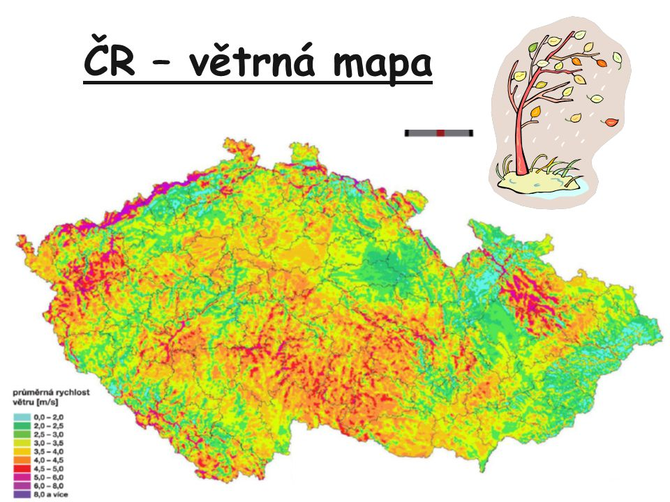 ČR – větrná mapa