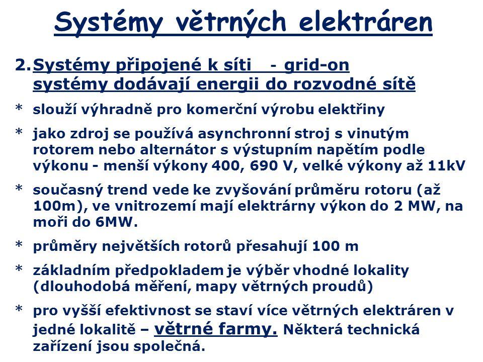 Systémy větrných elektráren
