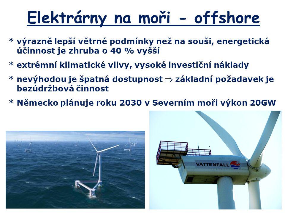 Elektrárny na moři - offshore
