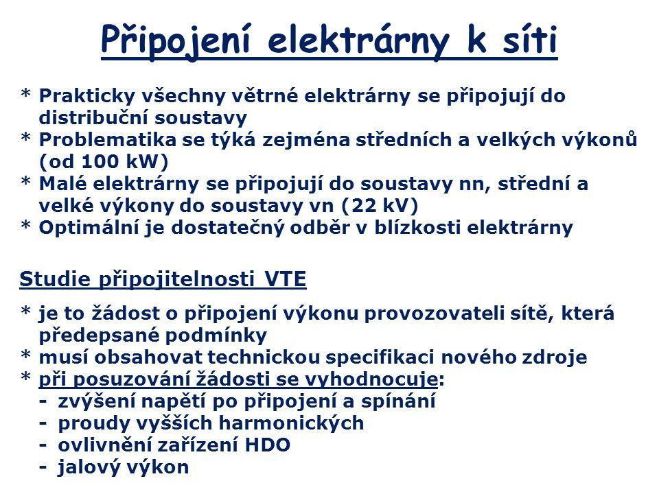 Připojení elektrárny k síti