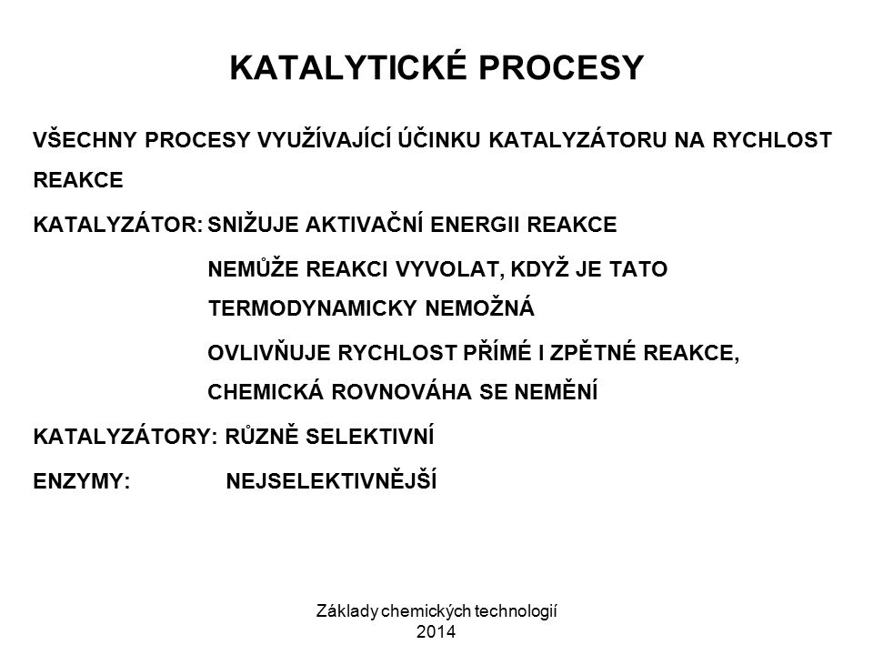 Základy chemických technologií 2014
