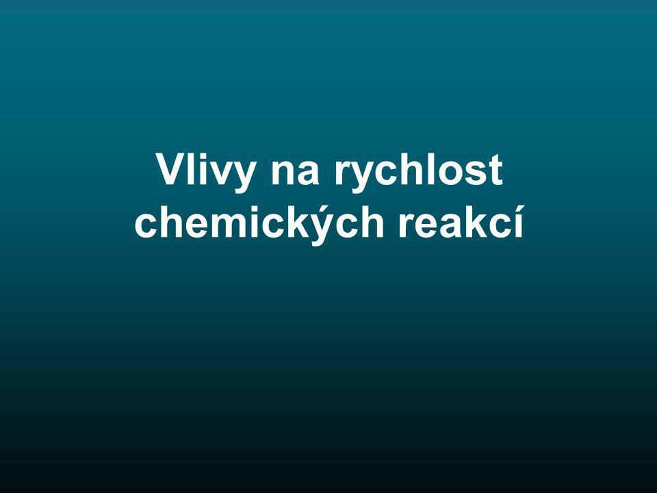Vlivy na rychlost chemických reakcí