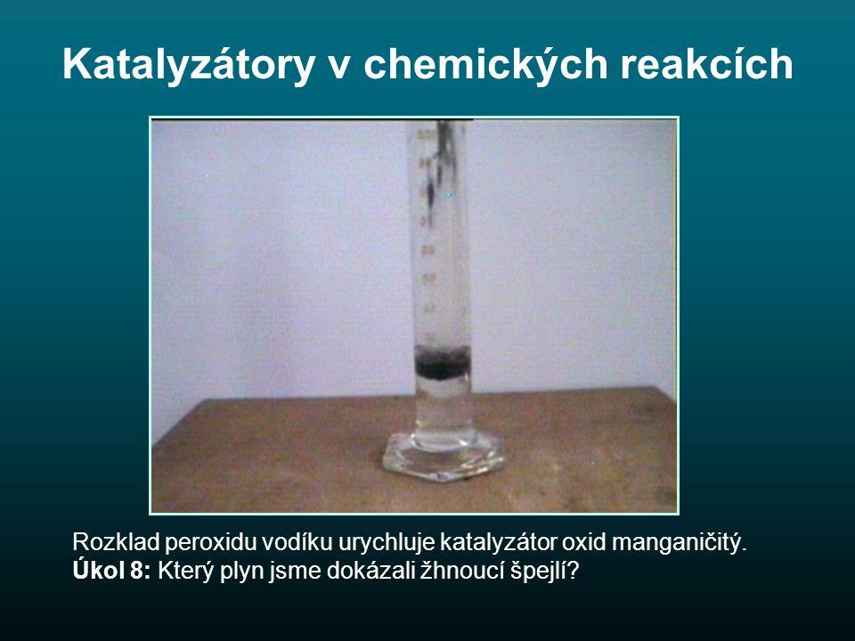 Katalyzátory v chemických reakcích