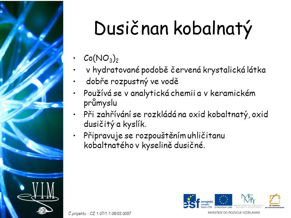 Dusičnan kobalnatý Co(NO3)2
