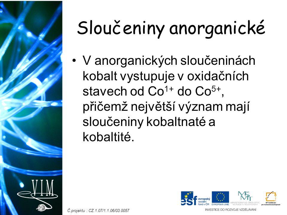 Sloučeniny anorganické