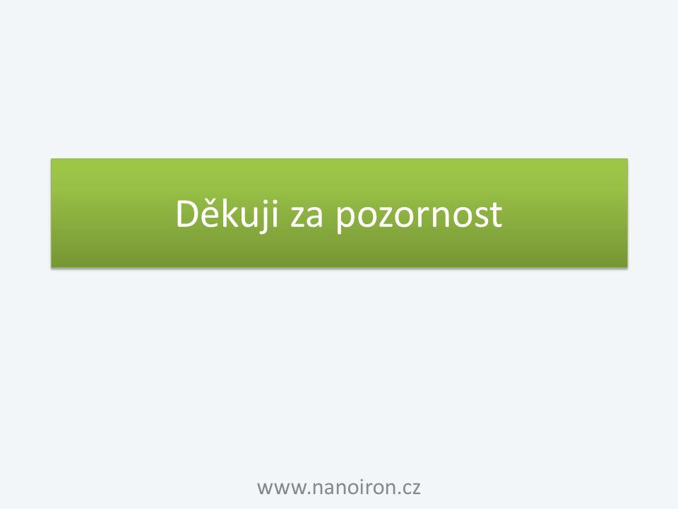Děkuji za pozornost www.nanoiron.cz