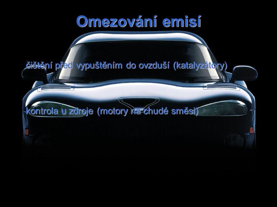 Omezování emisí čištění před vypuštěním do ovzduší (katalyzátory)