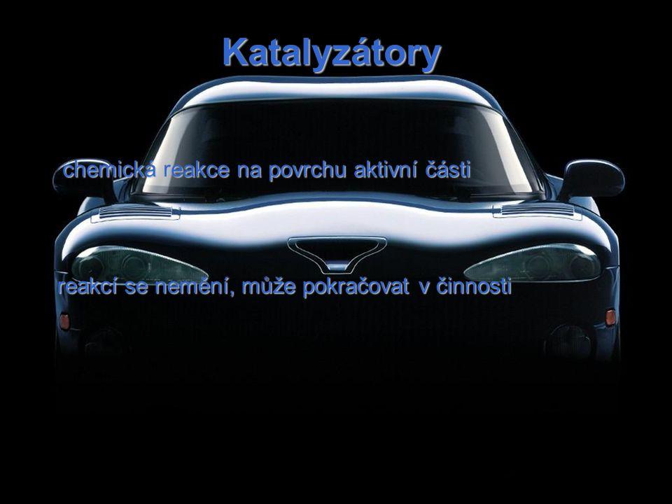 Katalyzátory chemická reakce na povrchu aktivní části