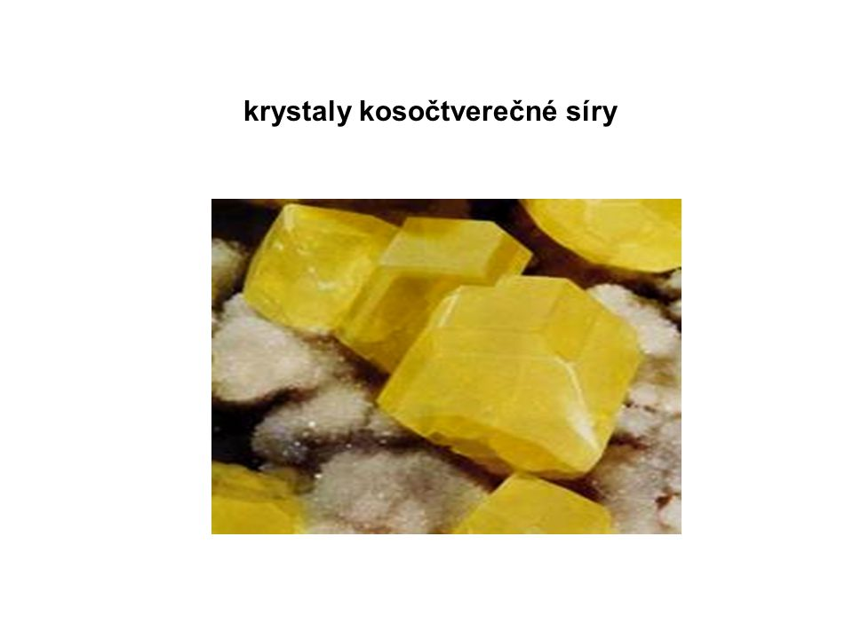 krystaly kosočtverečné síry
