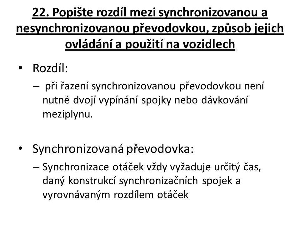 Synchronizovaná převodovka: