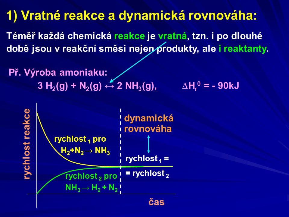 1) Vratné reakce a dynamická rovnováha: