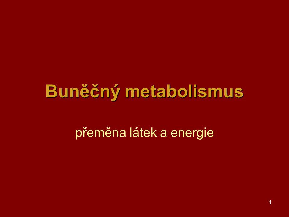 přeměna látek a energie