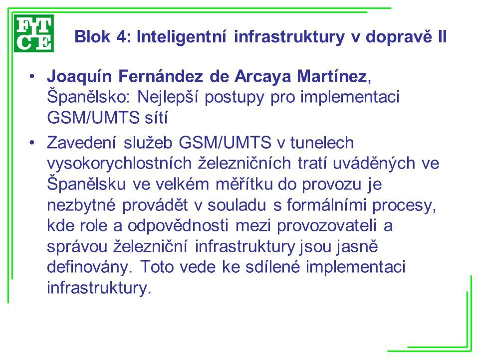 Blok 4: Inteligentní infrastruktury v dopravě II