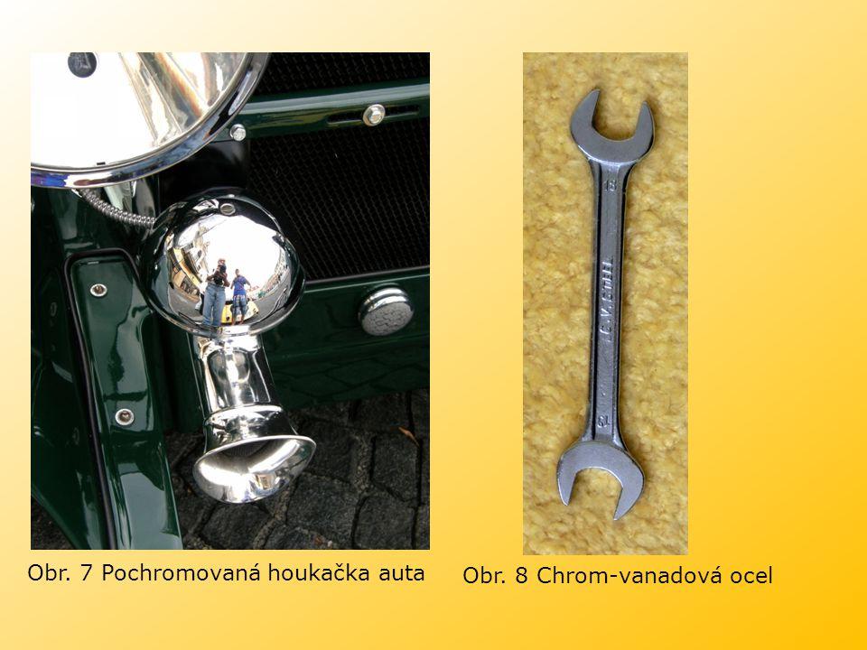 Obr. 7 Pochromovaná houkačka auta