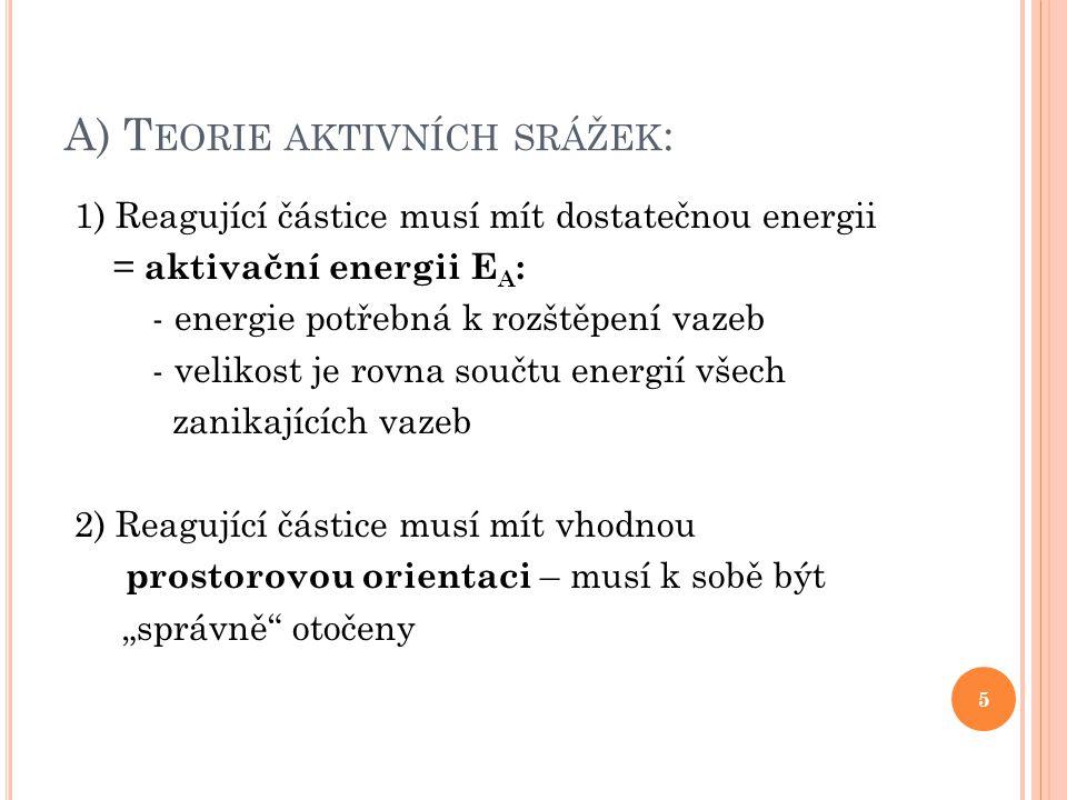 A) Teorie aktivních srážek:
