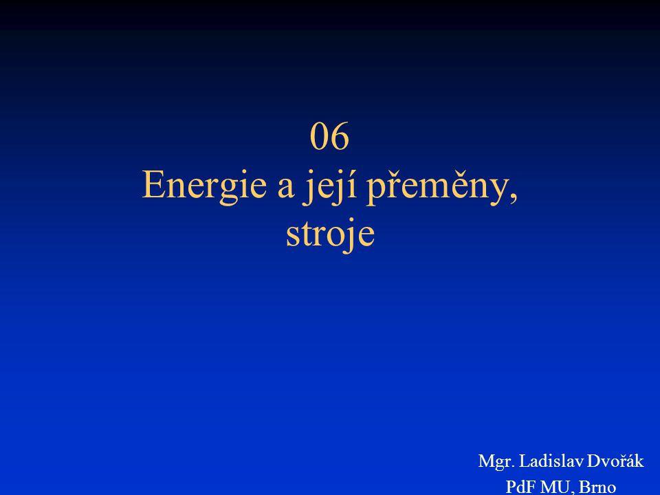06 Energie a její přeměny, stroje