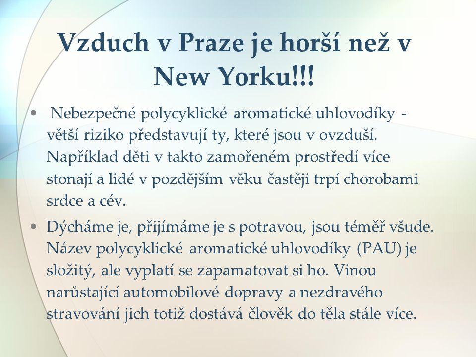 Vzduch v Praze je horší než v New Yorku!!!