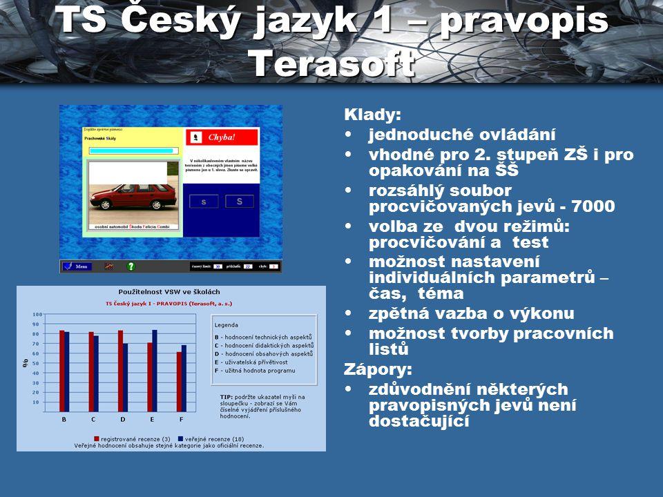 TS Český jazyk 1 – pravopis Terasoft