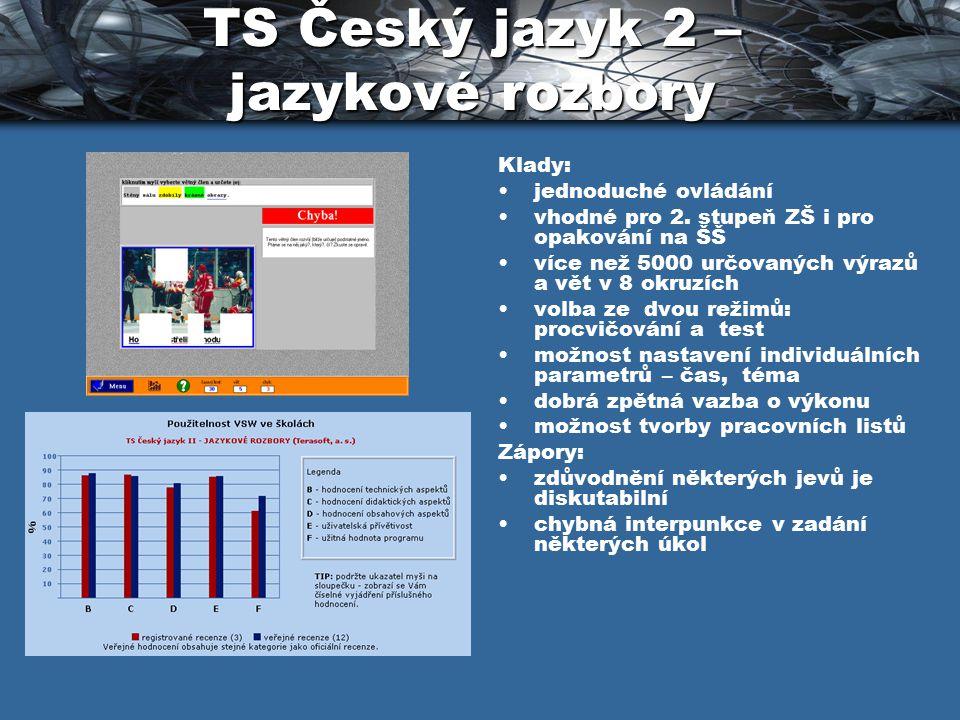 TS Český jazyk 2 – jazykové rozbory