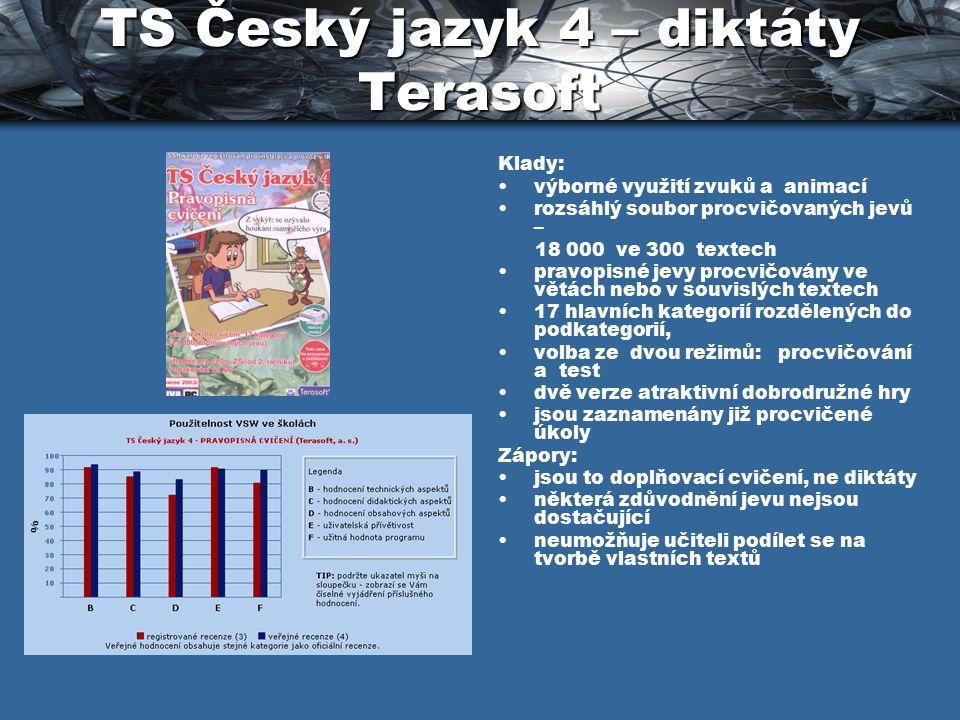 TS Český jazyk 4 – diktáty Terasoft