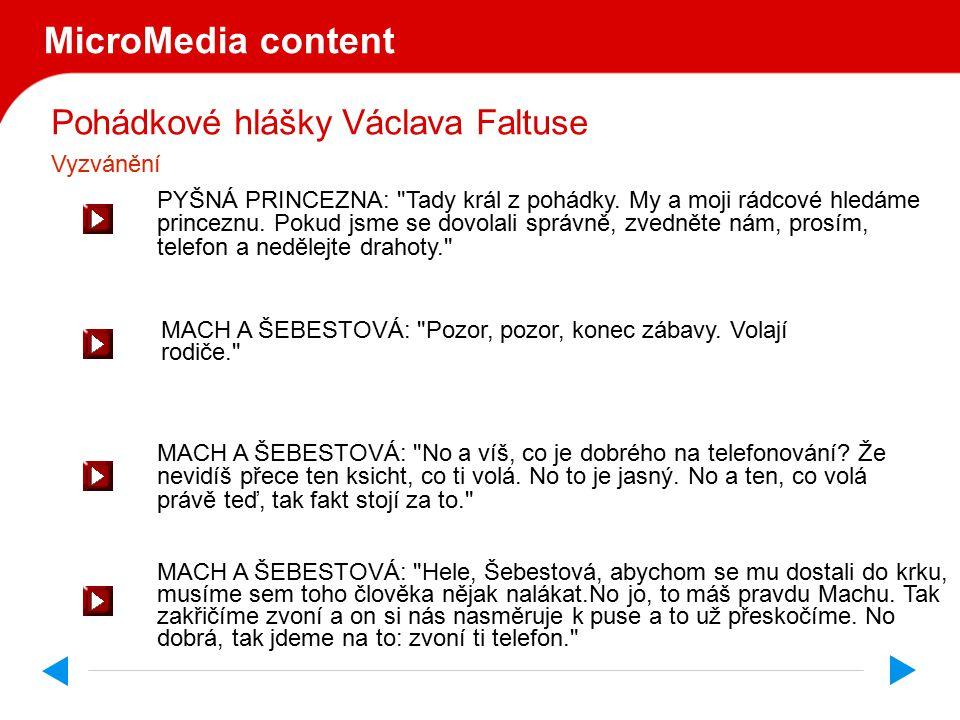 Pohádkové hlášky Václava Faltuse