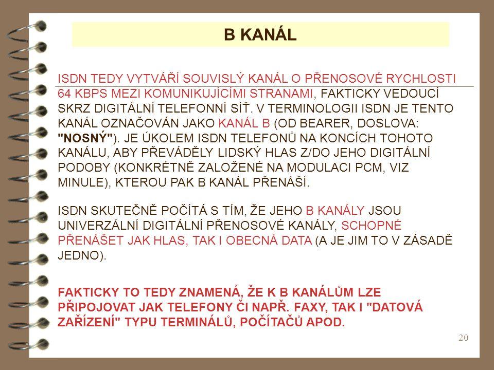 B KANÁL