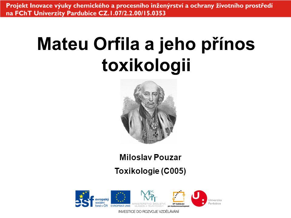 Mateu Orfila a jeho přínos toxikologii