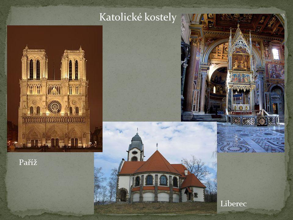 Katolické kostely Paříž Liberec