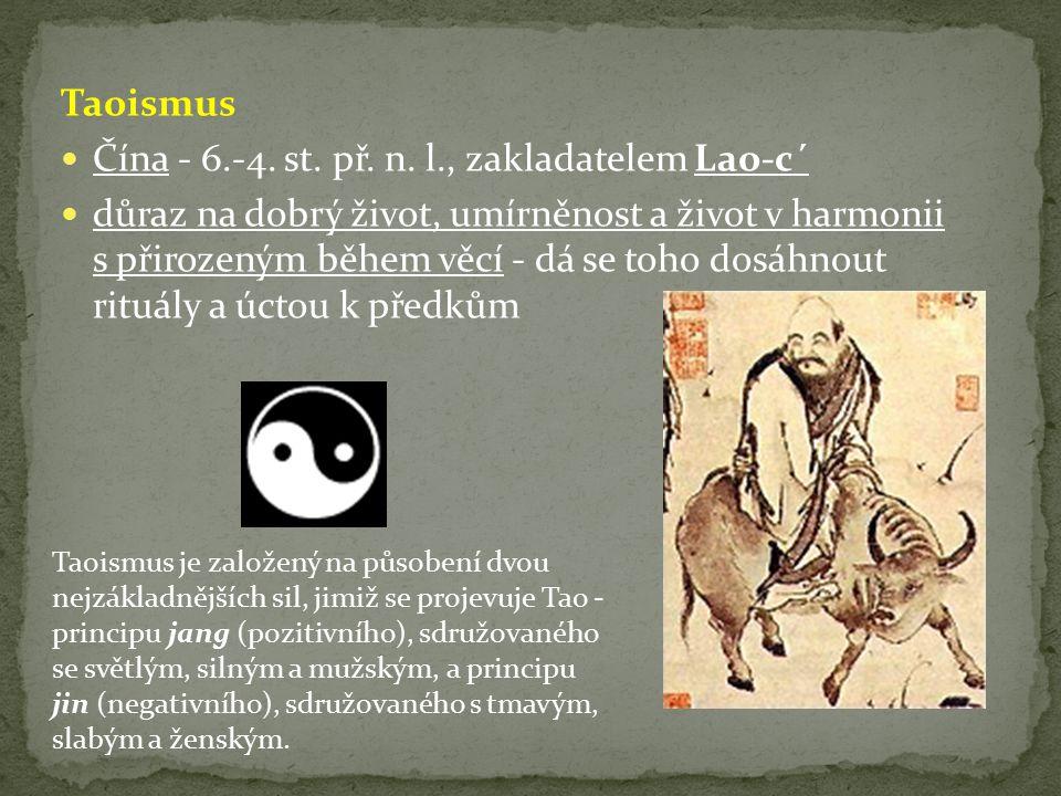 Čína - 6.-4. st. př. n. l., zakladatelem Lao-c´