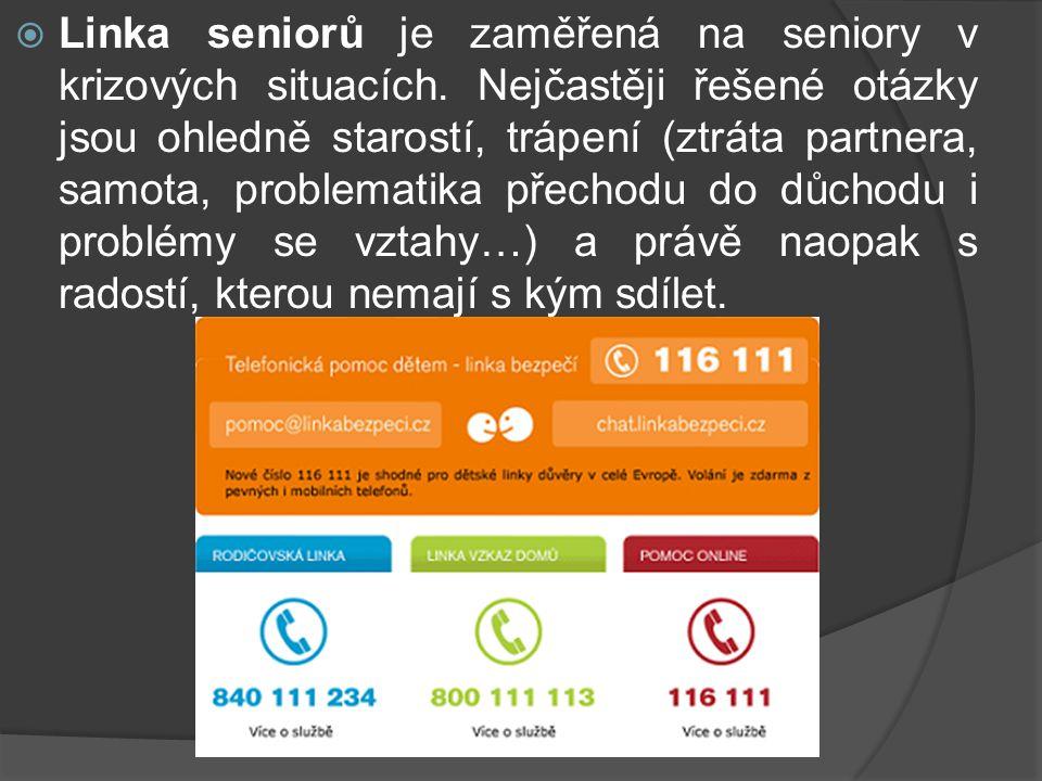 Linka seniorů je zaměřená na seniory v krizových situacích