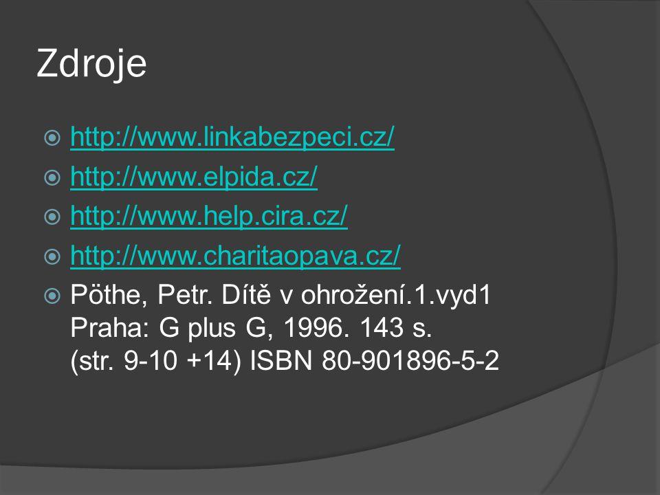 Zdroje http://www.linkabezpeci.cz/ http://www.elpida.cz/
