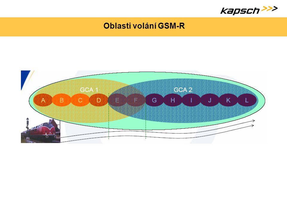 Oblasti volání GSM-R