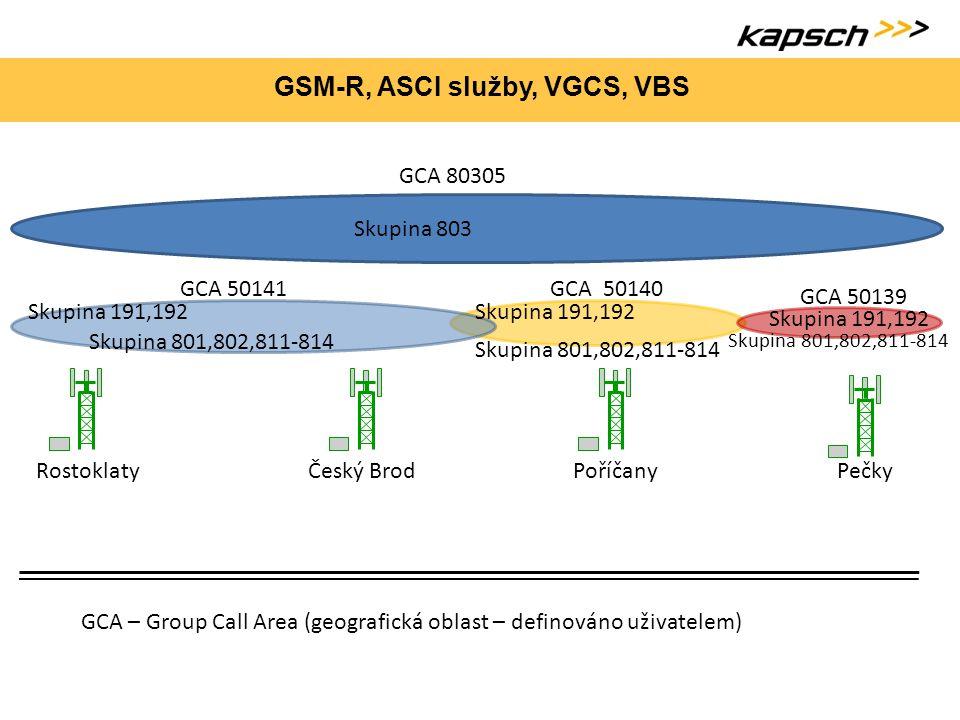 GSM-R, ASCI služby, VGCS, VBS