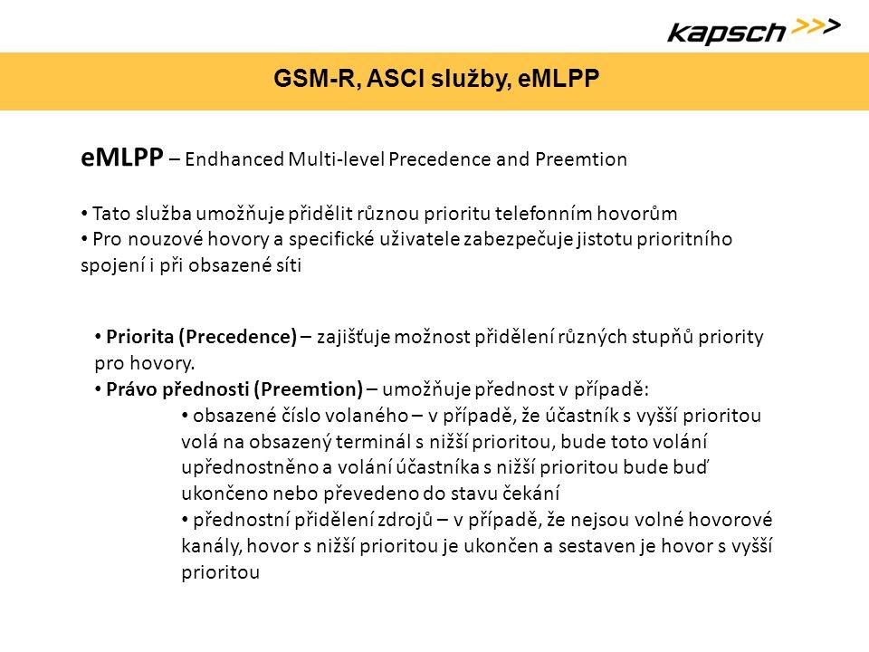 GSM-R, ASCI služby, eMLPP