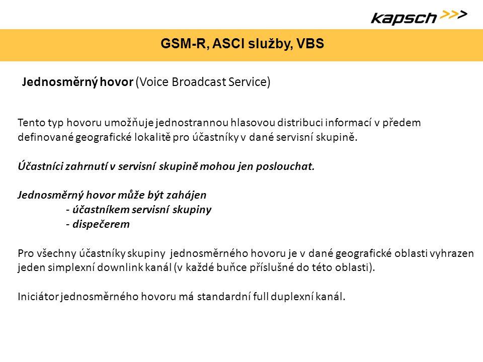 Jednosměrný hovor (Voice Broadcast Service)
