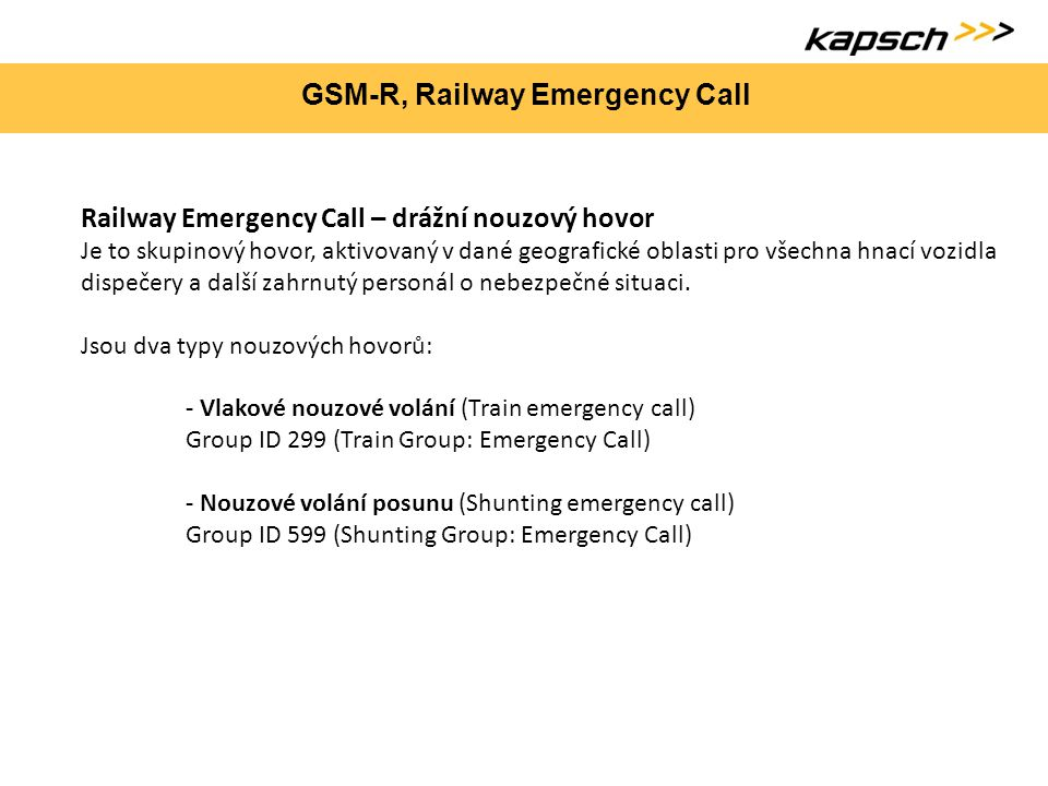 GSM-R, Railway Emergency Call