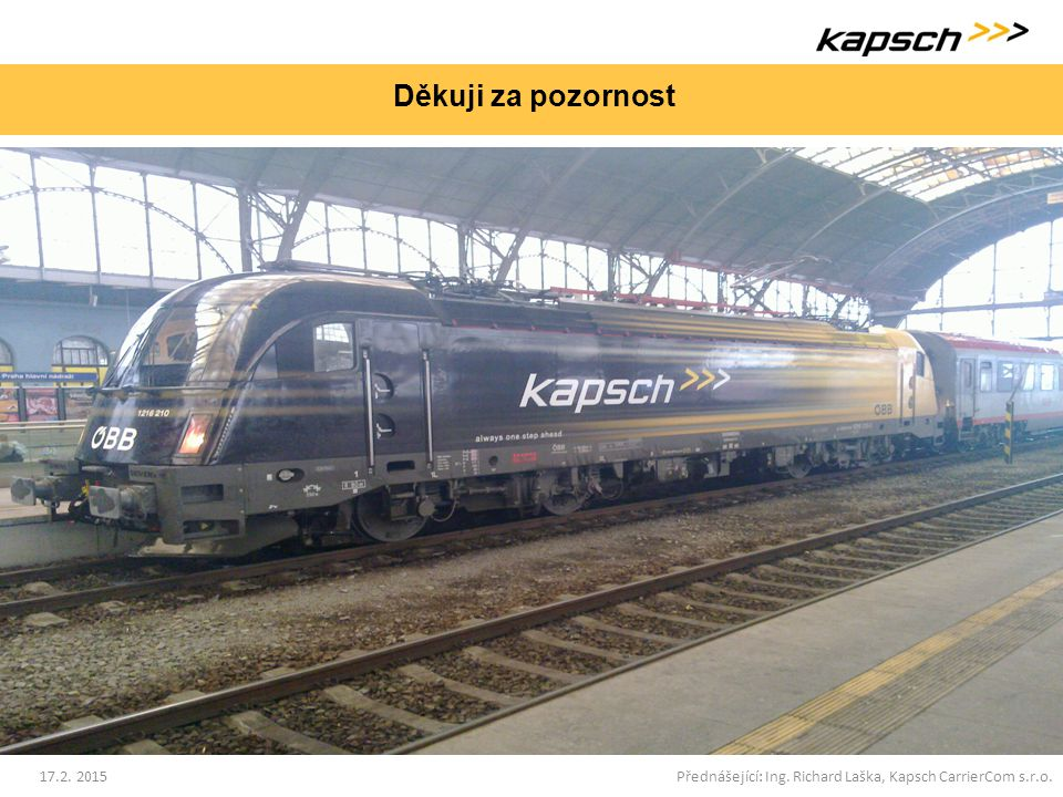 Přednášející: Ing. Richard Laška, Kapsch CarrierCom s.r.o.
