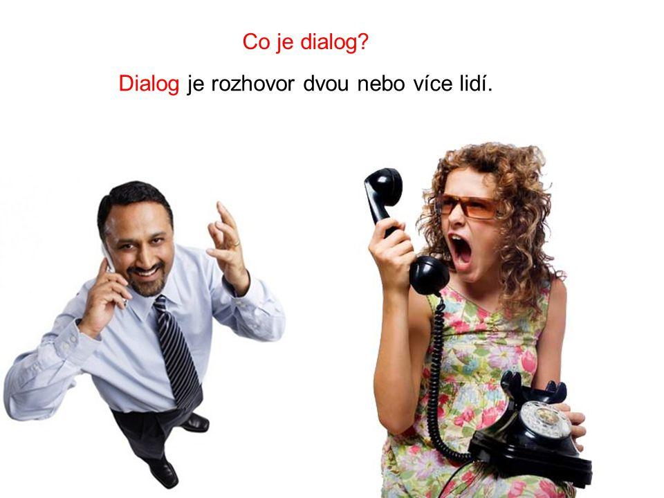 Dialog je rozhovor dvou nebo více lidí.
