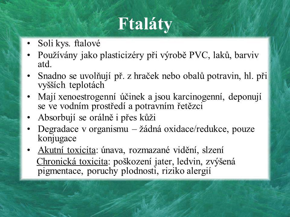 Ftaláty Soli kys. ftalové