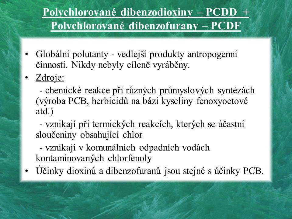 Polychlorované dibenzodioxiny – PCDD + Polychlorované dibenzofurany – PCDF