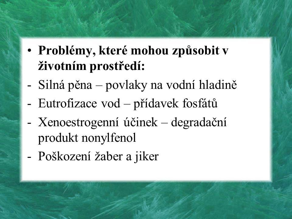 Problémy, které mohou způsobit v životním prostředí:
