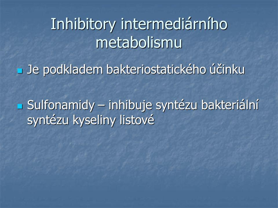 Inhibitory intermediárního metabolismu