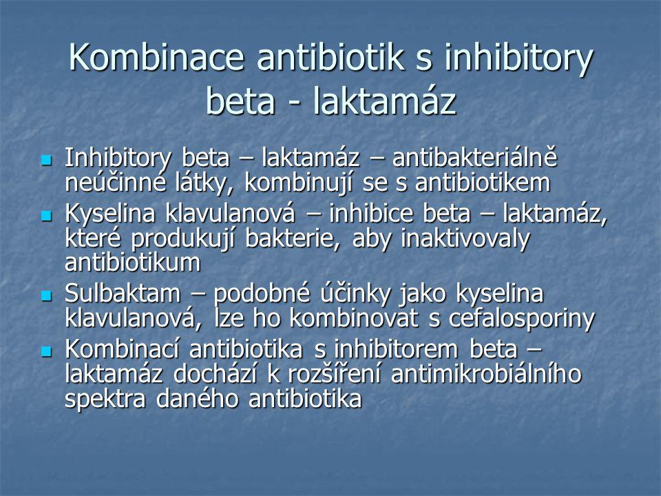 Kombinace antibiotik s inhibitory beta - laktamáz