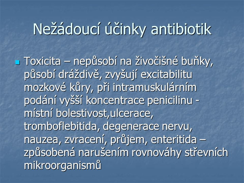 Nežádoucí účinky antibiotik