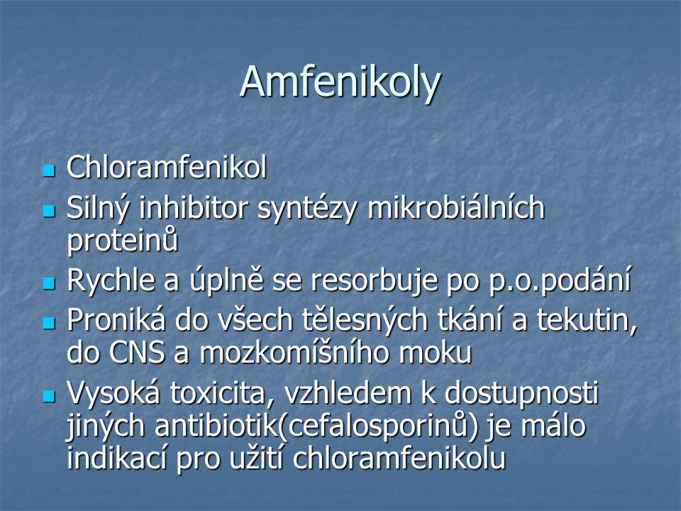 Amfenikoly Chloramfenikol