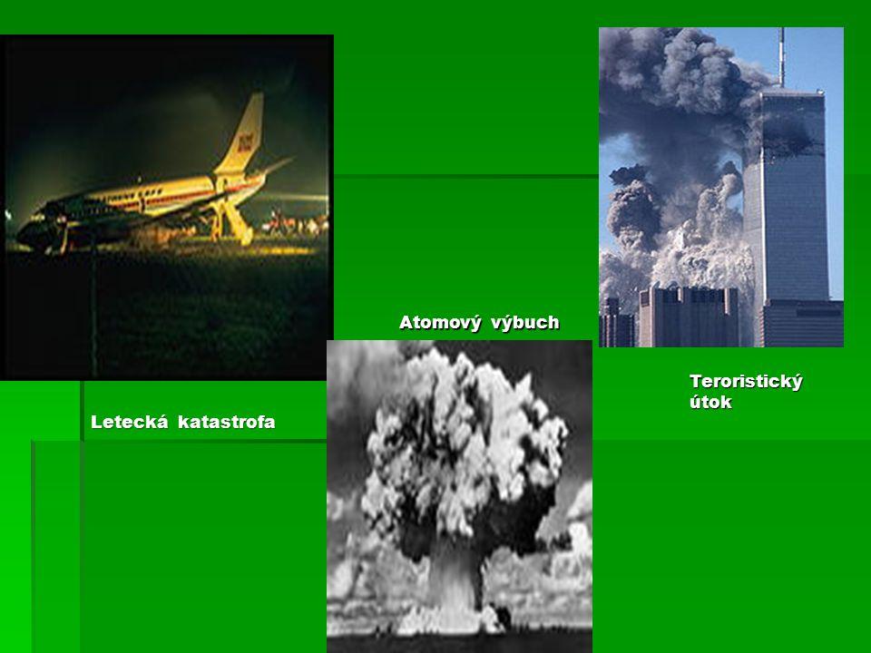 Atomový výbuch Teroristický útok Letecká katastrofa