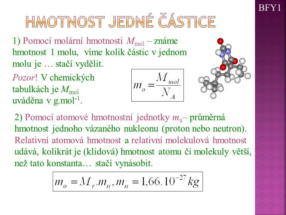 Hmotnost jedné částice